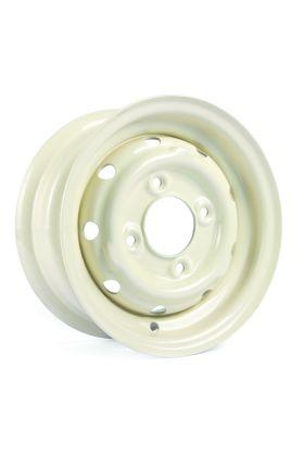 "Cooper S 4.5"" x 10"" Steel Wheel - Old English White"