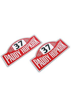 Rally Plate Decal, pair