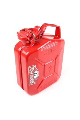 Steel Jerry Fuel Can - Baylent Cap - Red