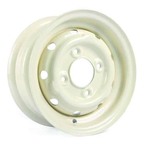 "Cooper S 4.5"" x 10"" Steel Wheel - Old English White"