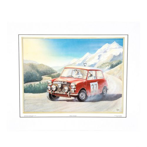 1964 Monte Carlo, 33 EJB on the Home Straight Print - Signed by Paddy Hopkirk