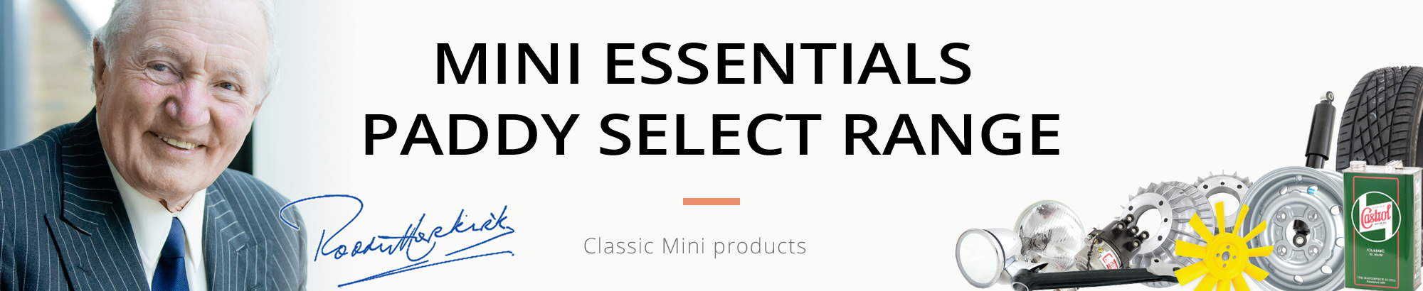 Selected Classic Mini Parts by Paddy Hopkirk