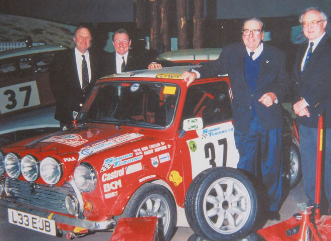 Ron Crellin, Paddy Hopkirk, John Cooper and Stuart Turner.