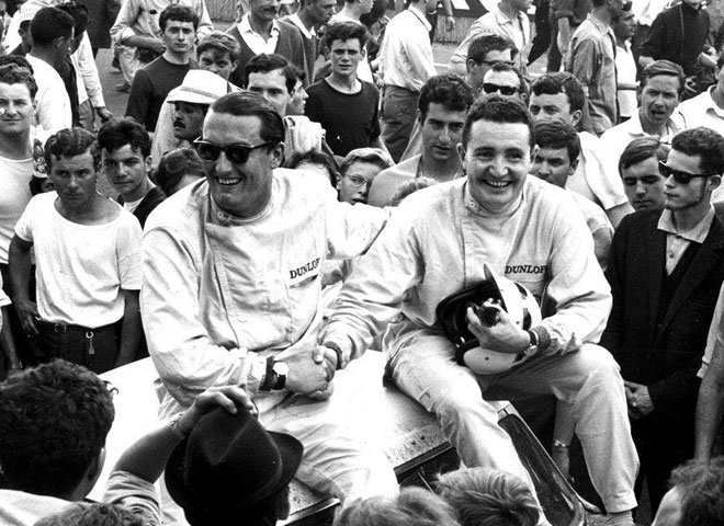 Alongside Andrew Hedges - Le Mans, 1964.