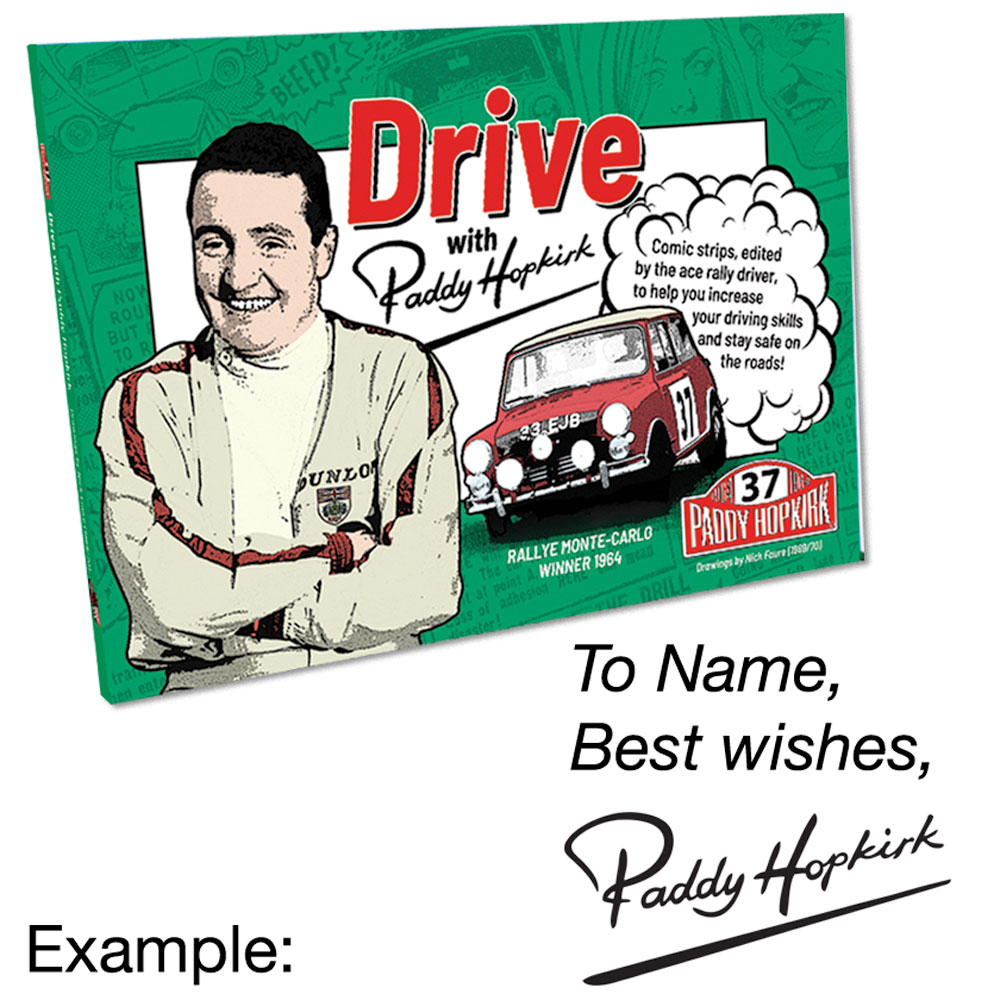 Drive with Paddy Hopkirk Book - Personalised & Signed
